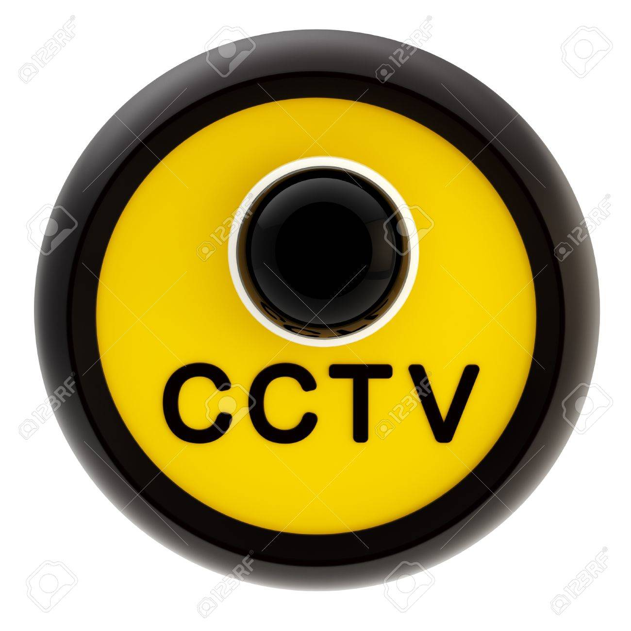 Closed circuit television alert sign Stock Photo - 13229261