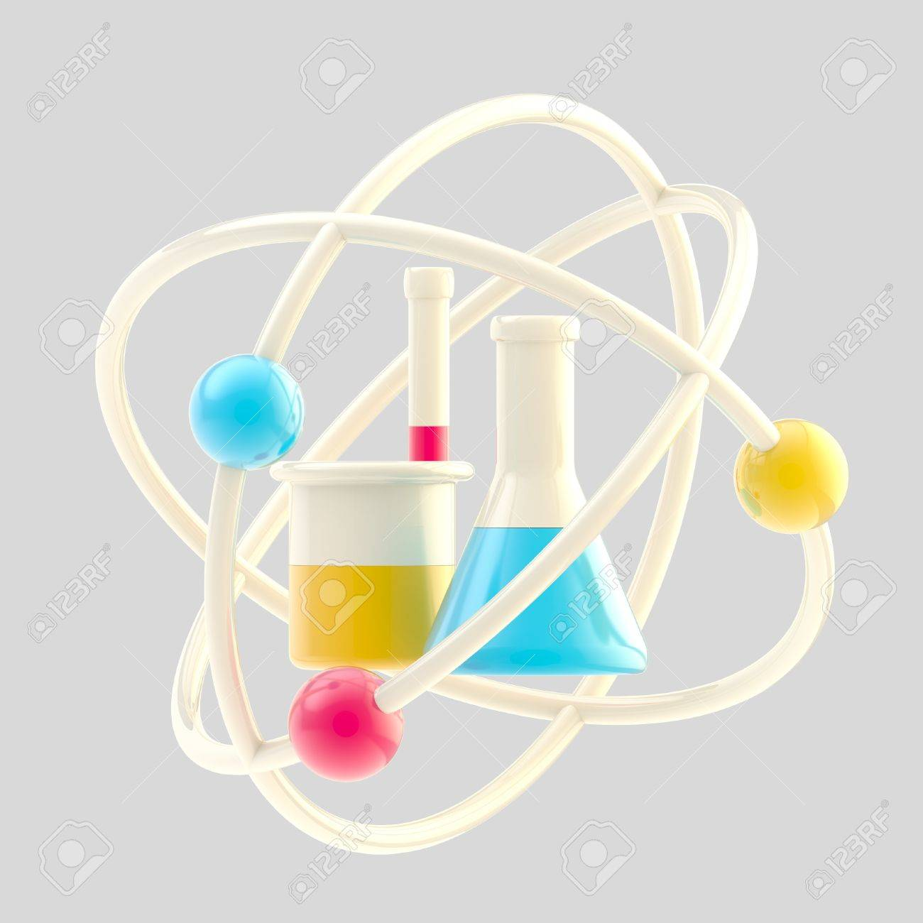 Science and research glossy icon isolated Stock Photo - 13279047
