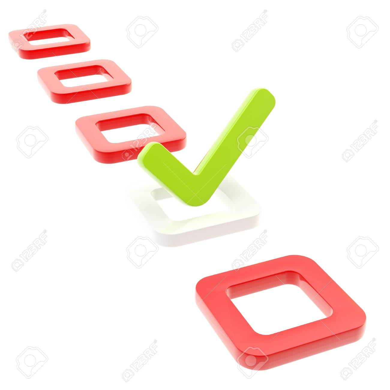 To do list, tick in check box isolated Stock Photo - 13362612