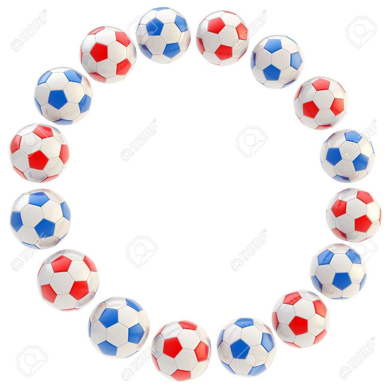 Football Circle Frame Soccer Ball Background Isolated On White Stock ...