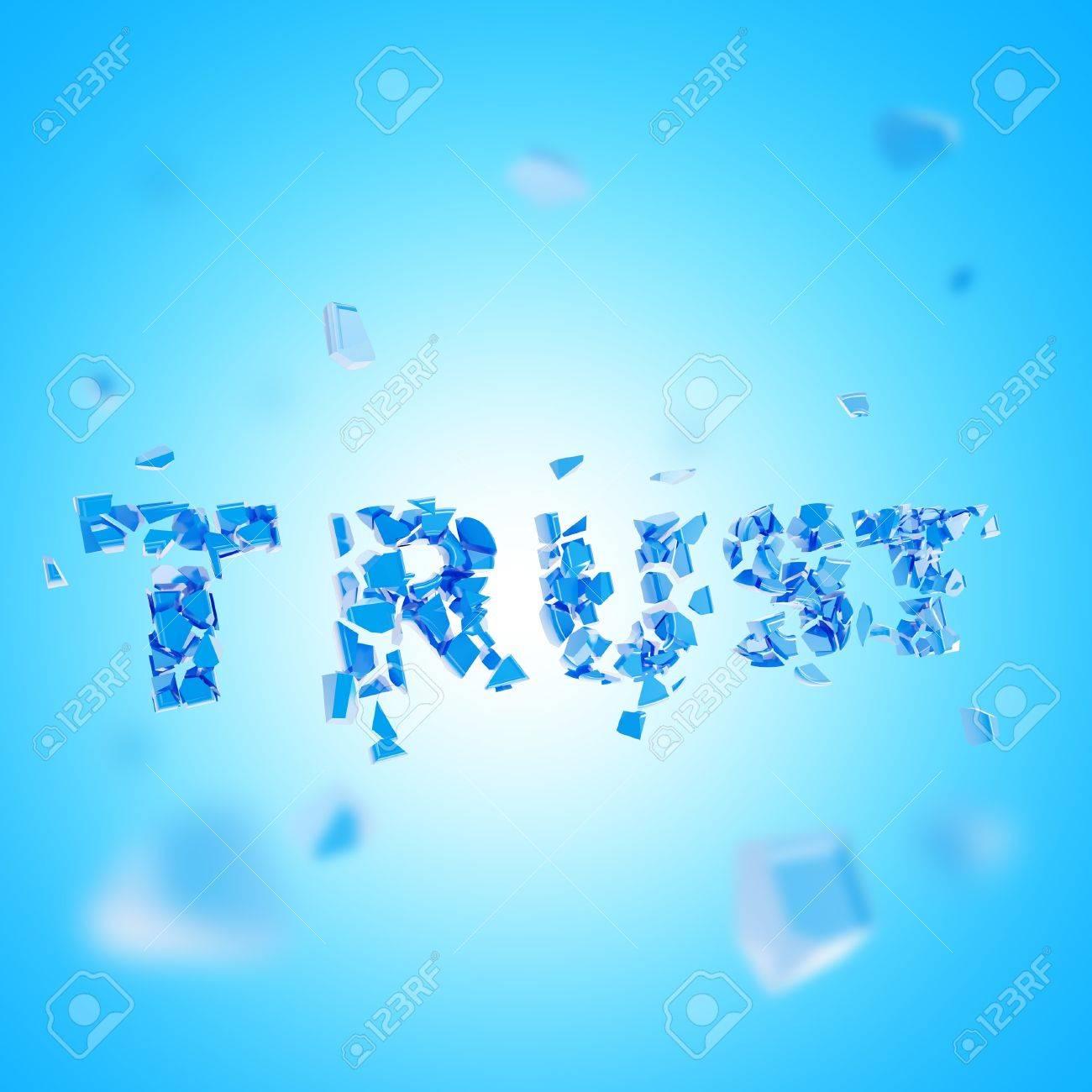 Broken trust abstract composition Stock Photo - 14183494