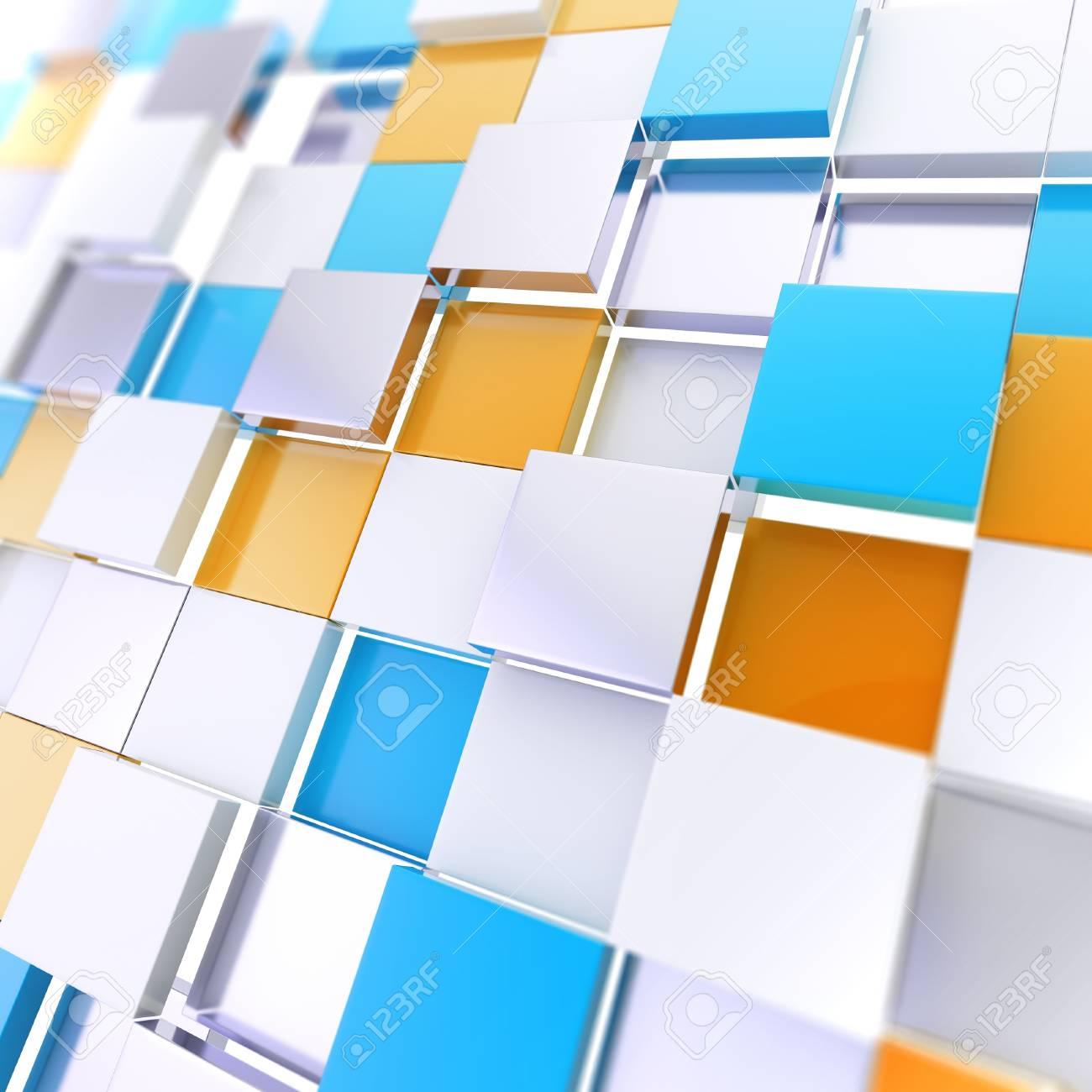 Futuristic copyspace background of cubic plates Stock Photo - 14183532