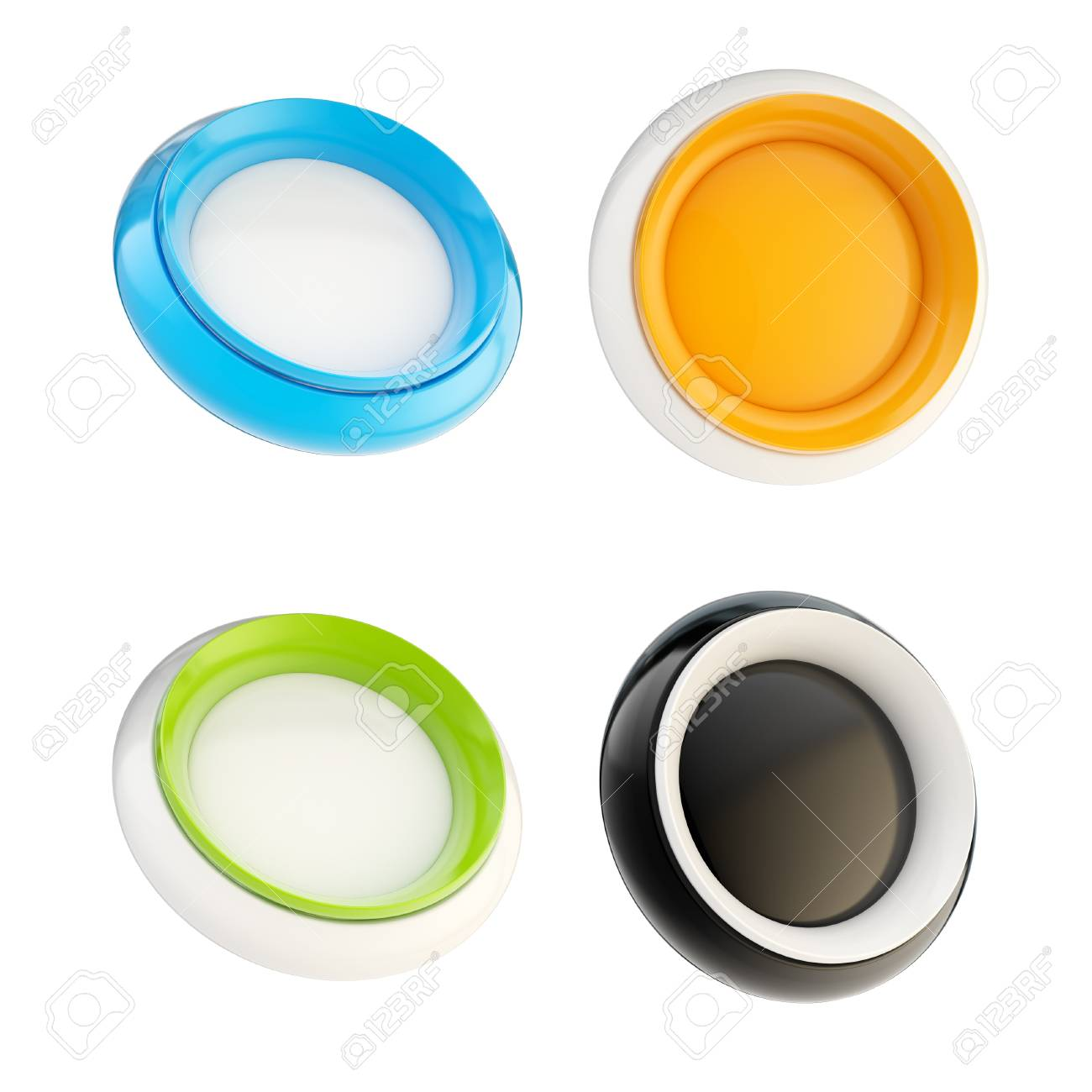 Set of glossy plastic buttons isolated Stock Photo - 14241368