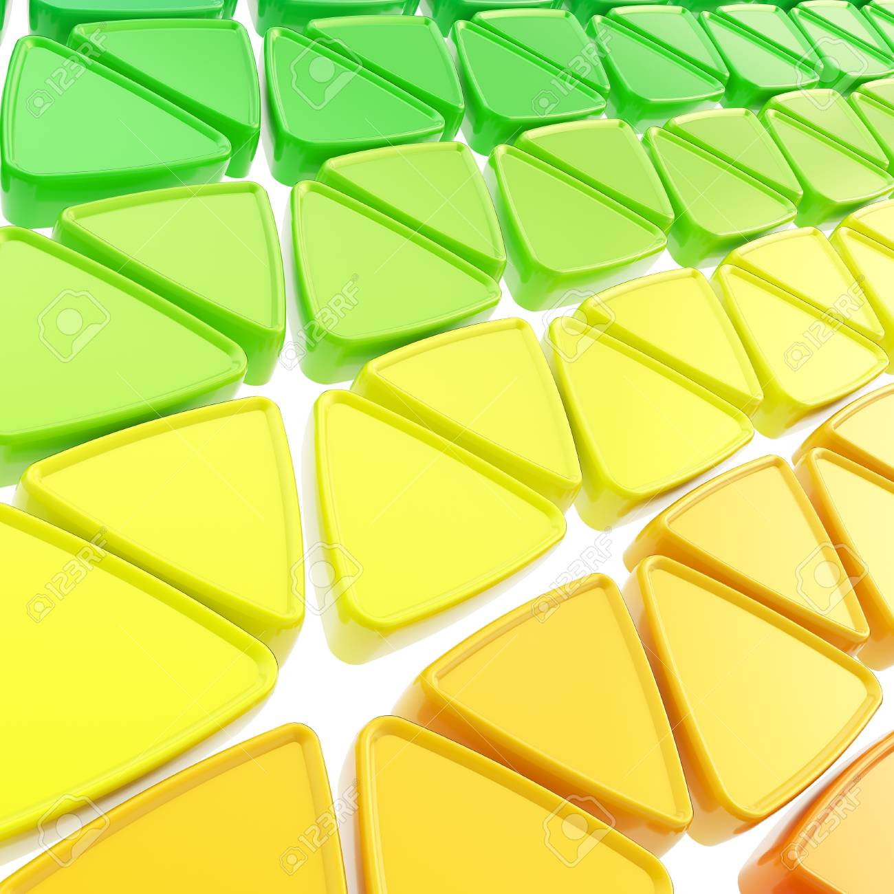 Abstract geometrical background made of glossy triangles on white Stock Photo - 15090889