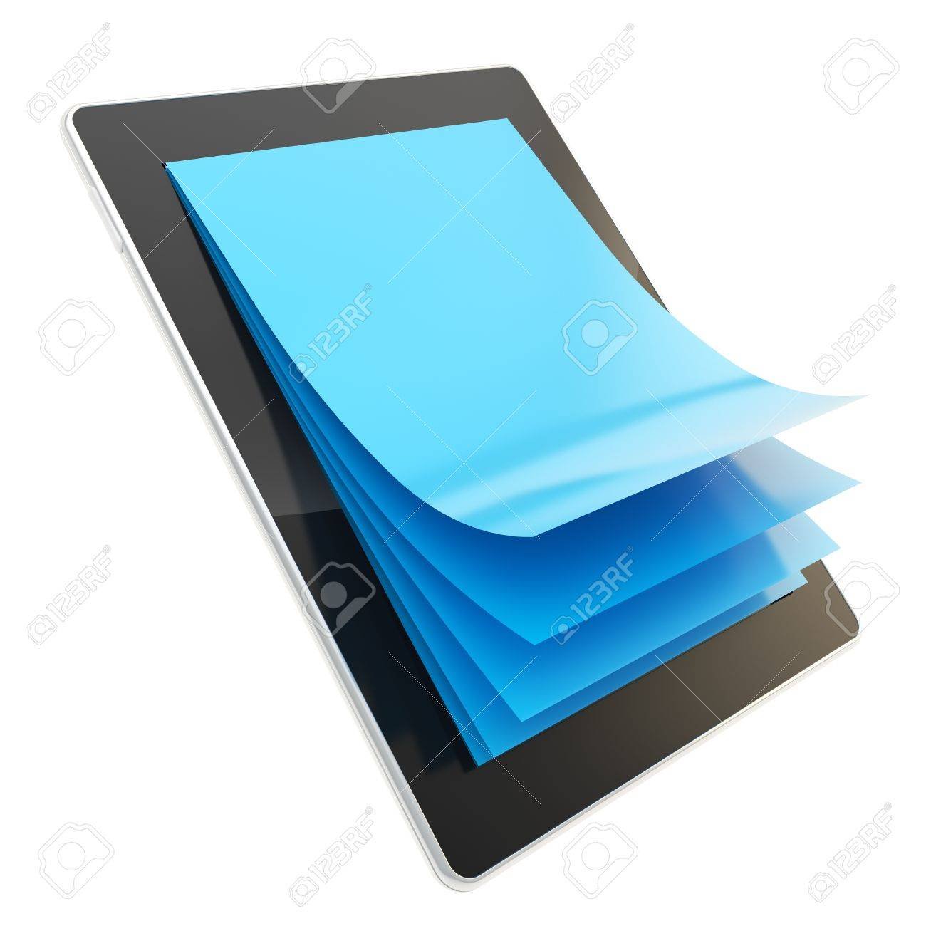 E-ink reading technology as stylish glossy tablet pad electronic