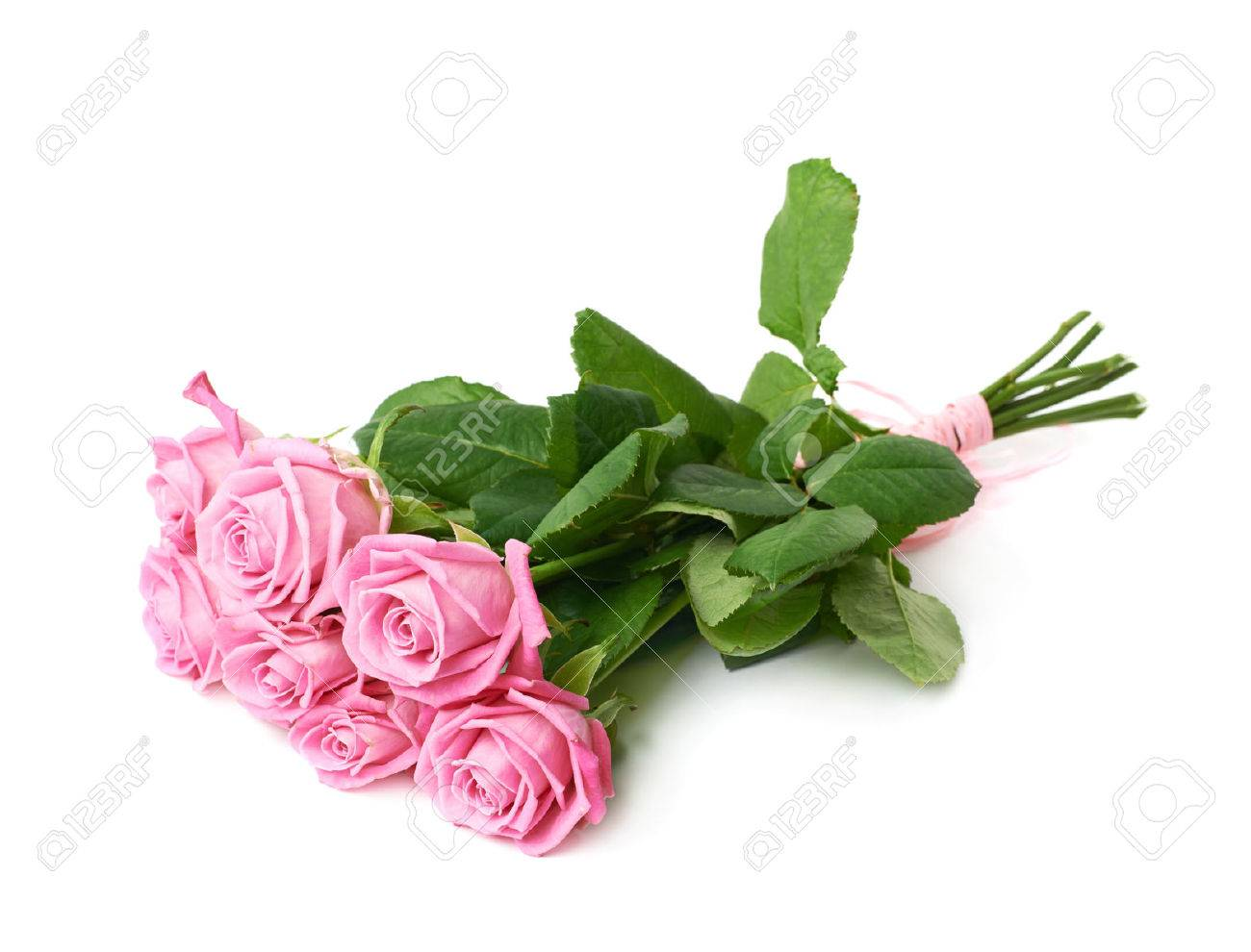 Flowers bouquet stock photos royalty free flowers bouquet images bouquet of pink roses isolated over the white background izmirmasajfo