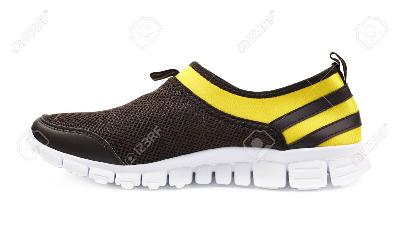 Couleur Sport Running Light De Noir Jaune Isolé Chaussures Et UwR64a