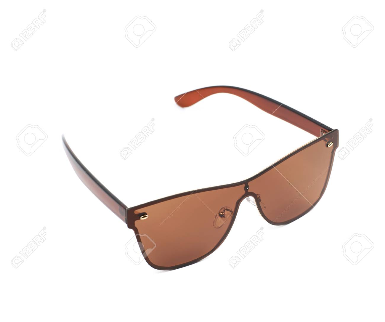 4d94065655c Pair of brown shade sunglasses isolated over the white background Stock  Photo - 59653179