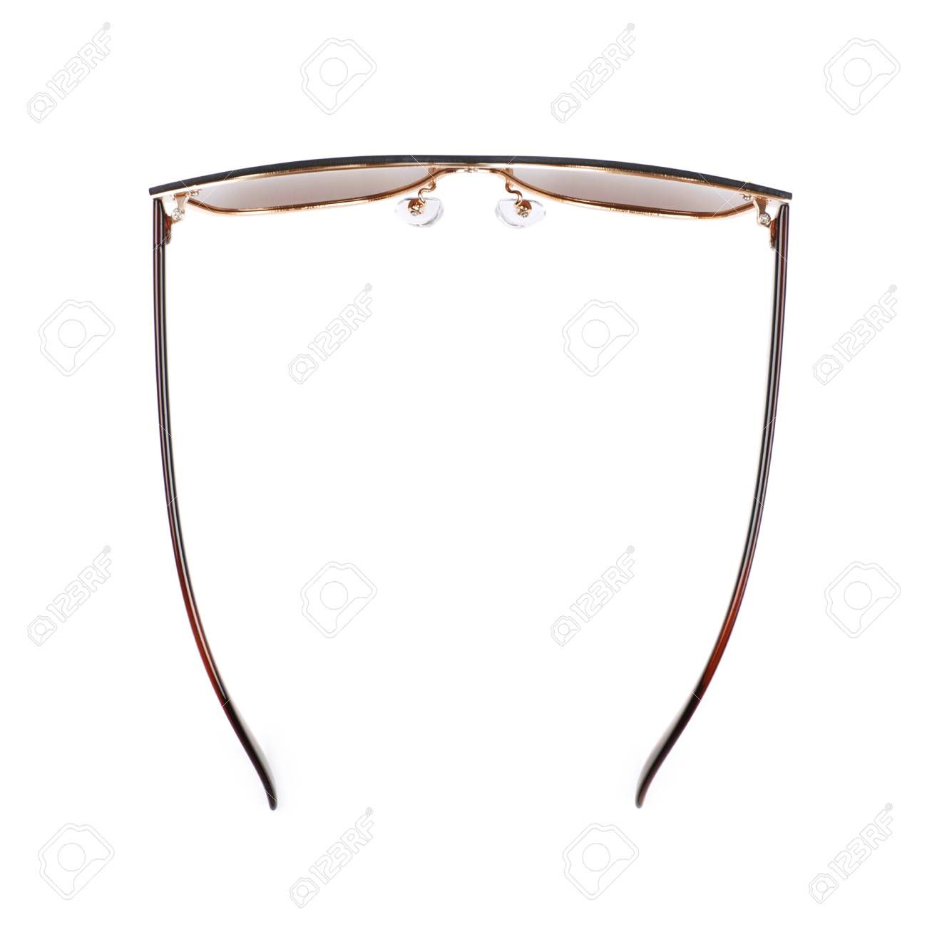 26150365e99 Pair of brown shade sunglasses isolated over the white background Stock  Photo - 60707508