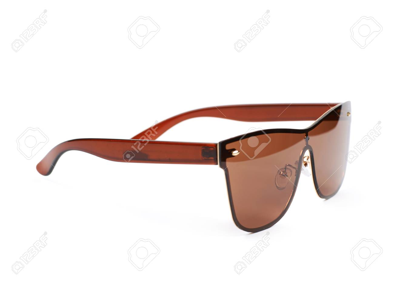 7fb77abb3e7 Pair of brown shade sunglasses isolated over the white background Stock  Photo - 61261409
