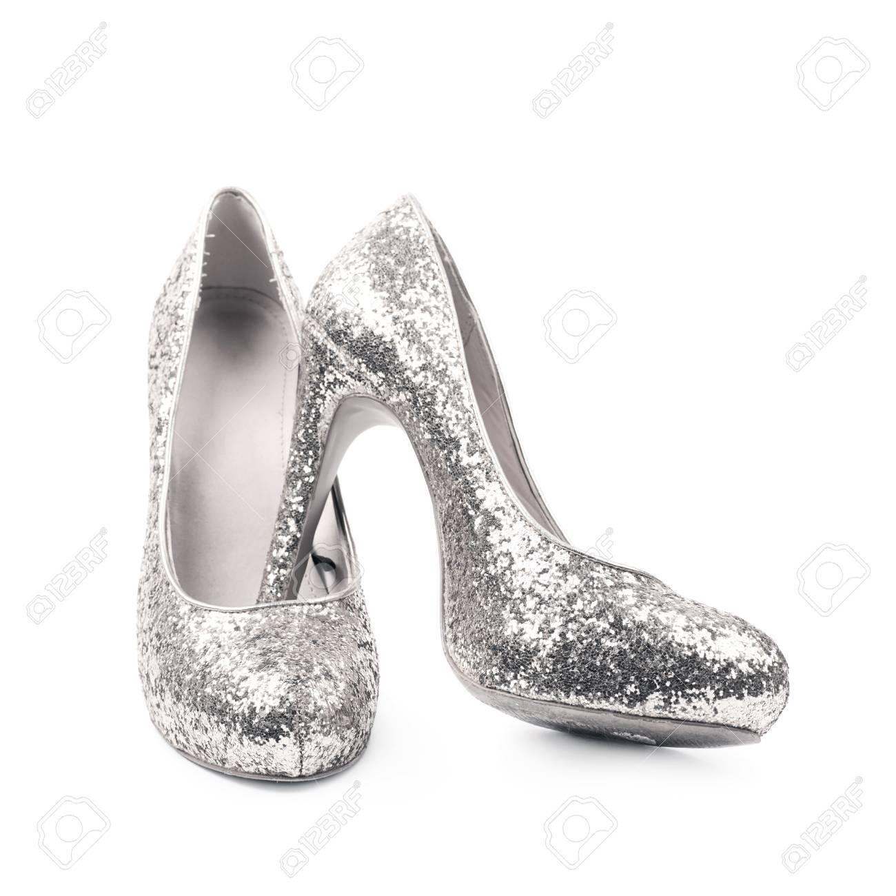 chaussure talon haut argenté