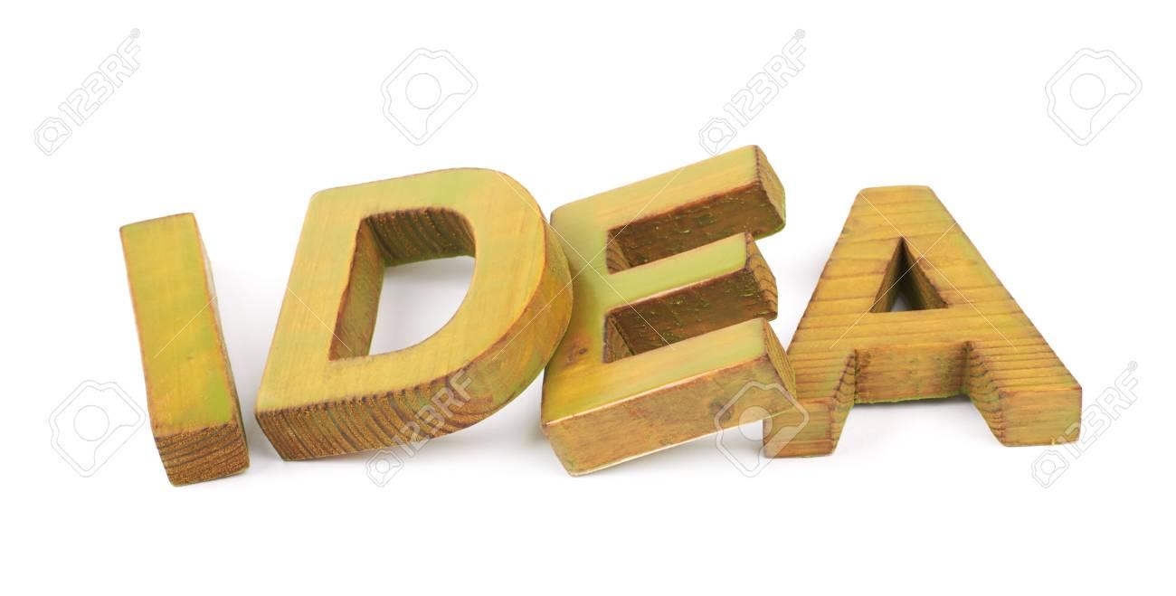 Lettere Di Legno Colorate : Immagini stock idea parola fatta di colorato con vernice lettere