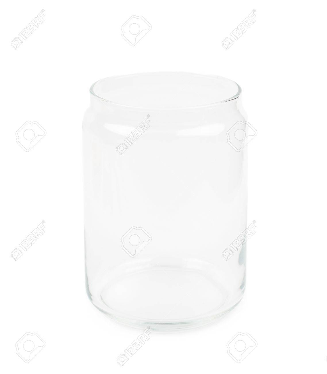 empty glass kitchen jar isolated over the white background stock empty glass kitchen jar isolated over the white background stock photo 61598311