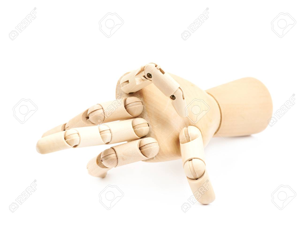 broken wooden hinge joint model of hand as a drawing reference