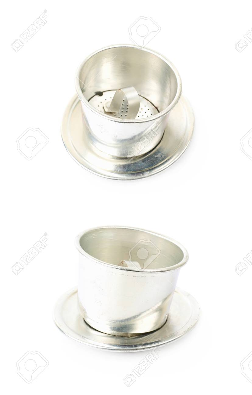 Vietnamese Stainless Steel Coffee Filter Isolated Over The White Stock Photo Picture And Royalty Free Image Image 94833097