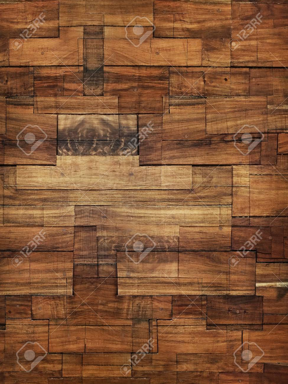 modern stained wood block wall texture and background stock photo 87635340