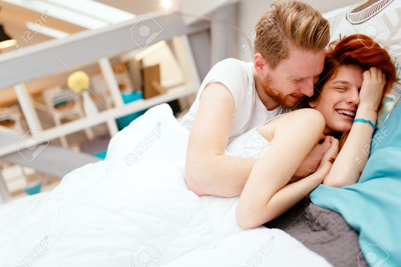 Stock Photographs Of Young Love Couple In Bed Scene. Couple On Bed Love   Best Bed 2017