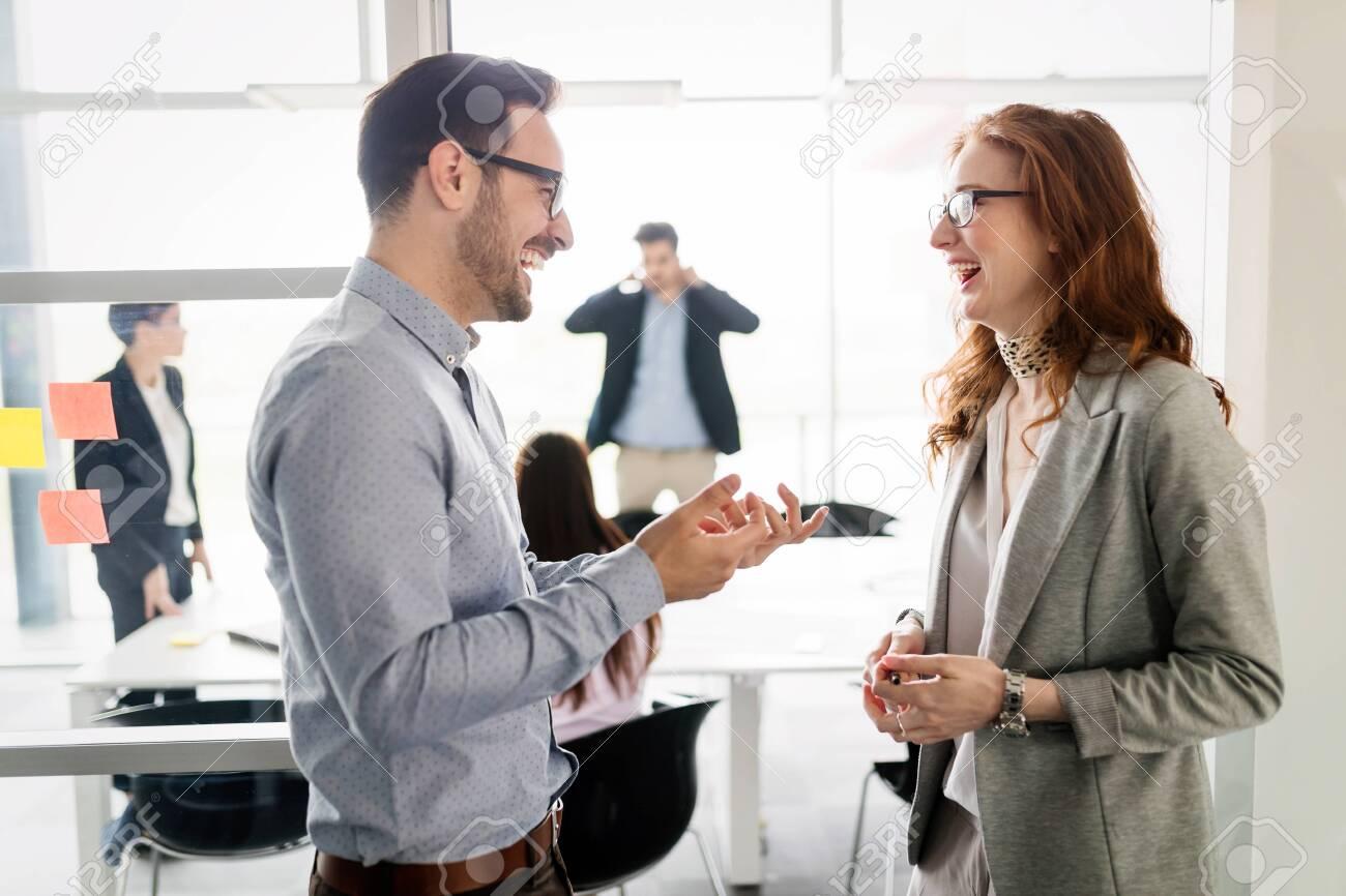 Business people having fun in office - 97272795
