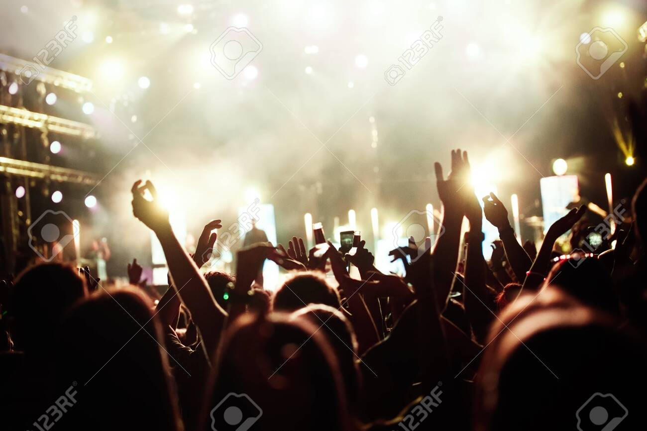 Picture of party people at music festival - 138800399