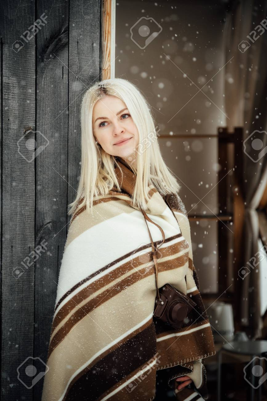 White Blonde Girl Masturbating