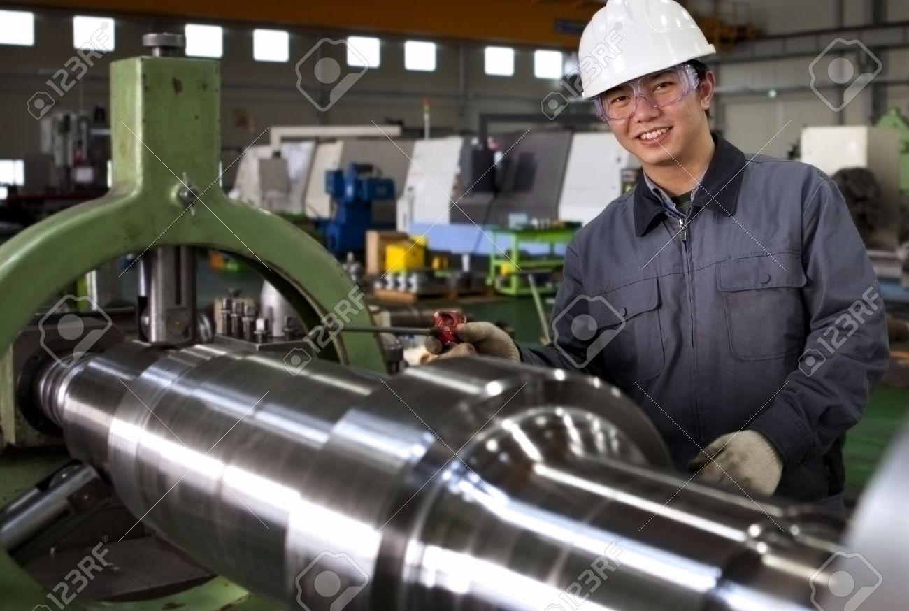 Asian Technician Operative Of Cnc Milling Cutting Machine Center ...