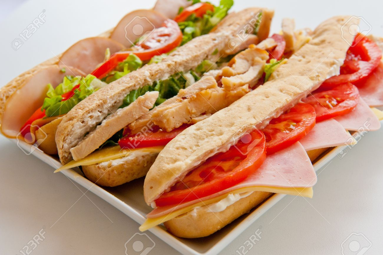 three types of sandwiches on a plate Stock Photo - 9692168