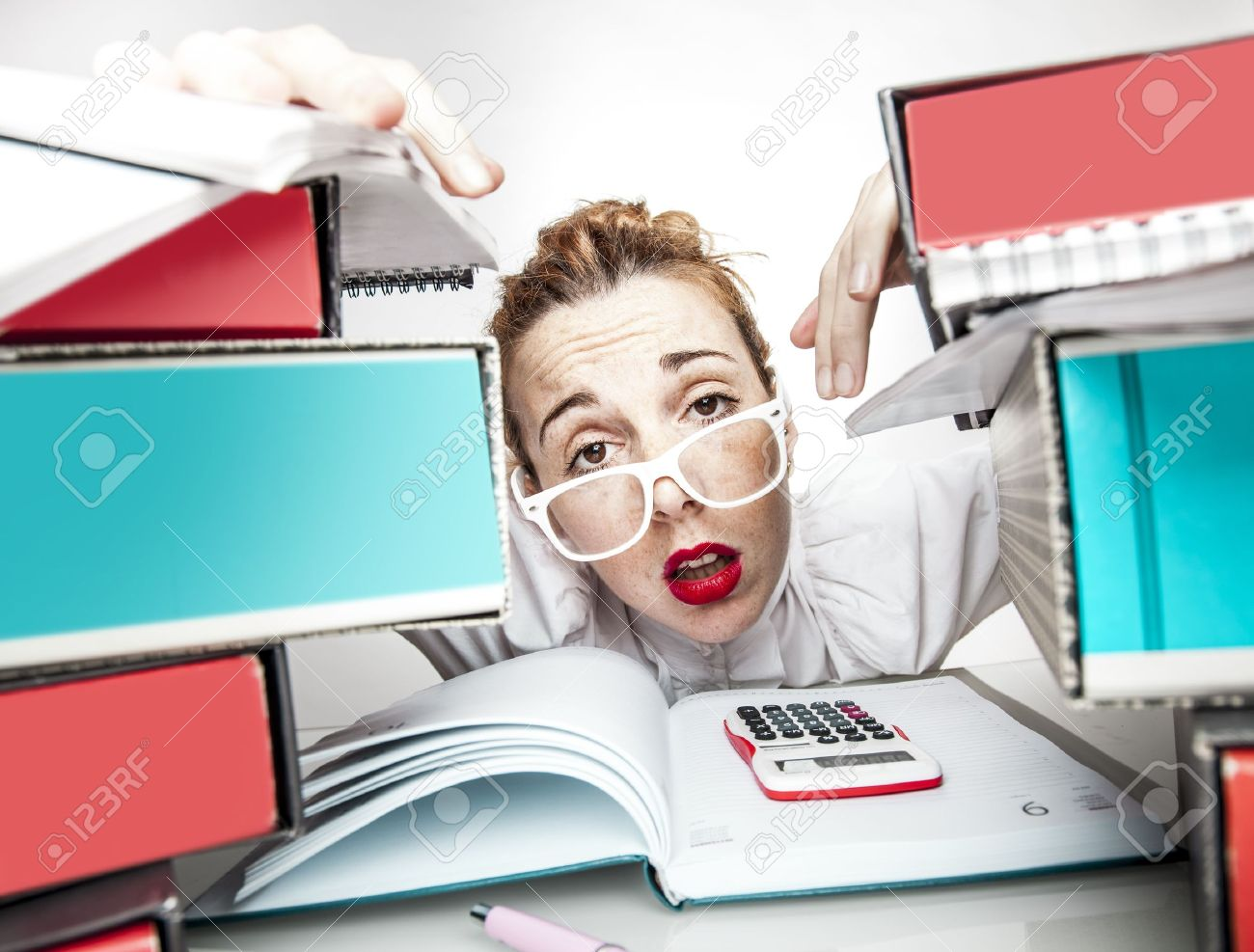 Stressed Secretary Stock Photo - 17574008