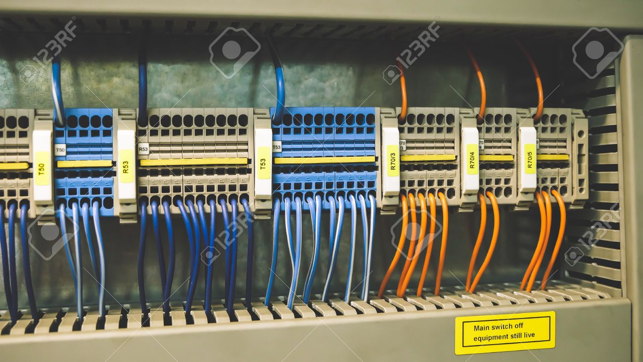 Outstanding Colorful Wires Plc Cable In Control Panel System Stock Photo Wiring Digital Resources Antuskbiperorg