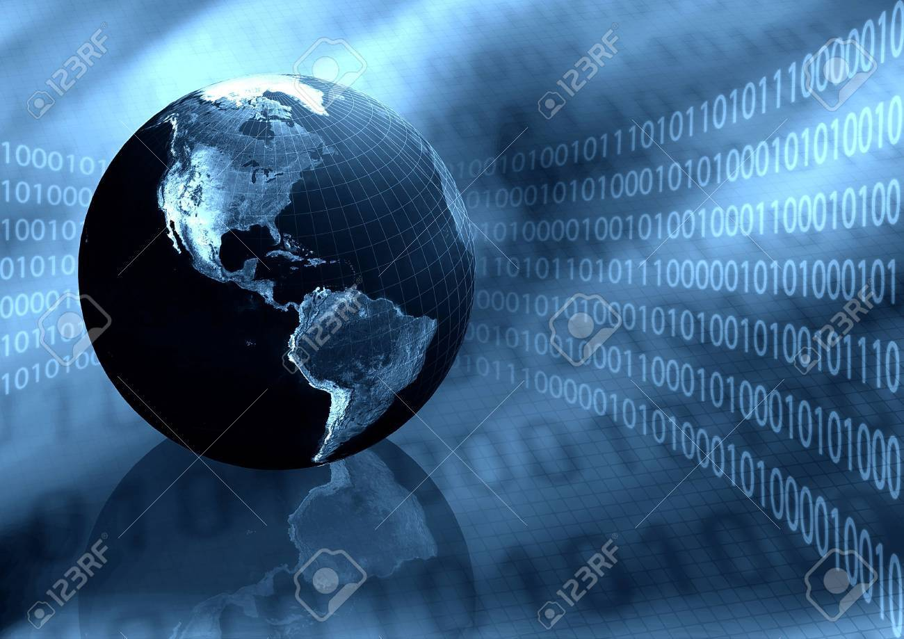 Worldwide Information Background Stock Photo - 3881627