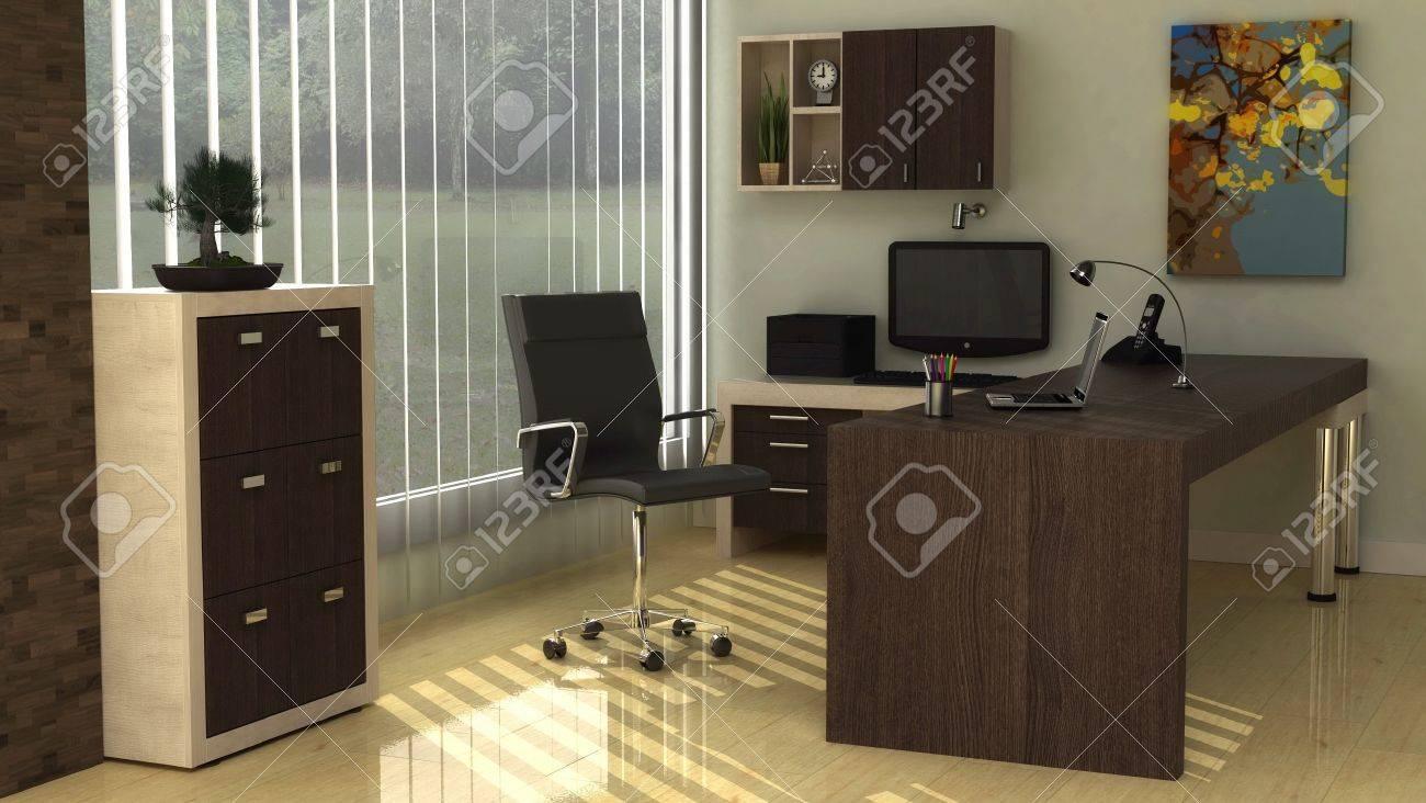 Fresh Office Interior Photos fresh office interiors Fresh And Natural Office Interior Stock Photo 9706751