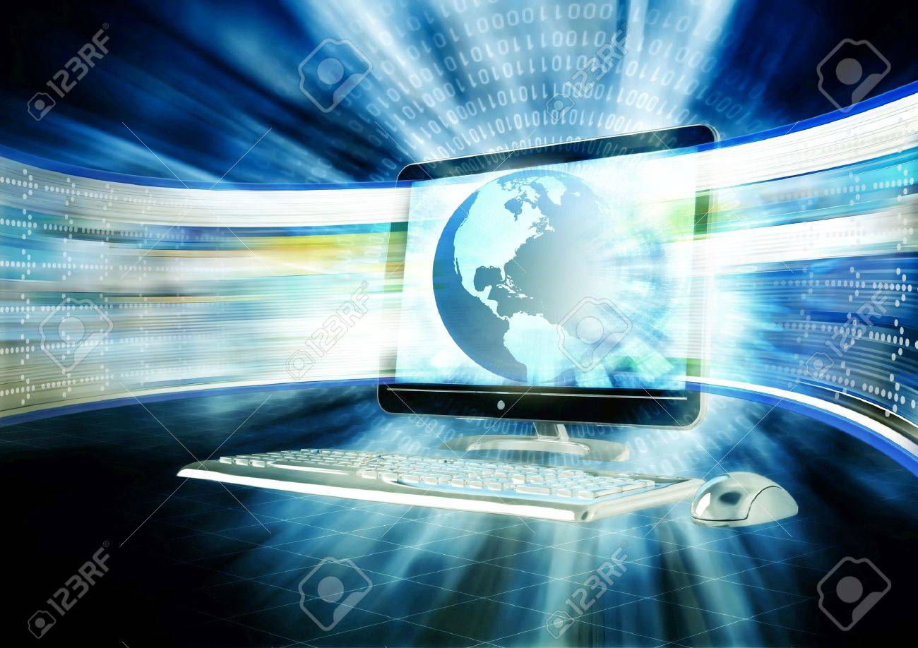 Concept of fast internet browsing with an lcd screen flahing a series of website rapidly. Stock Photo - 9706776