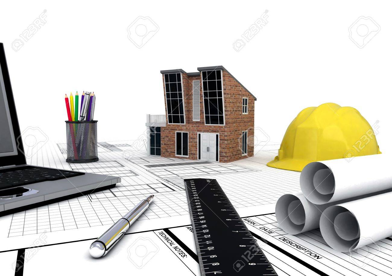 Modern House plan Stock Photo - 9706763