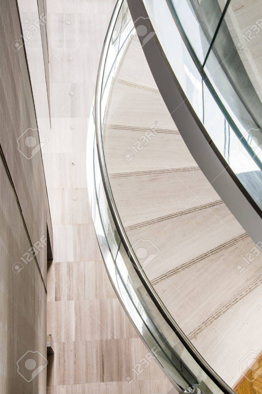 Part Of Curve Stairs Stock Photo   44128840