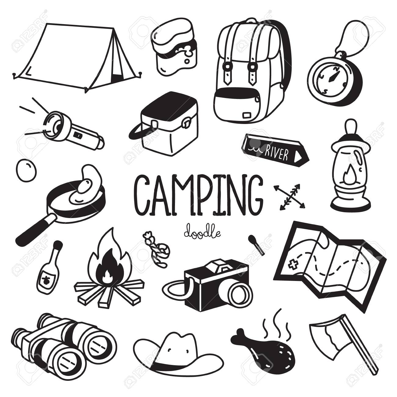 20 Fantastic Ideas Camping Drawing Pictures