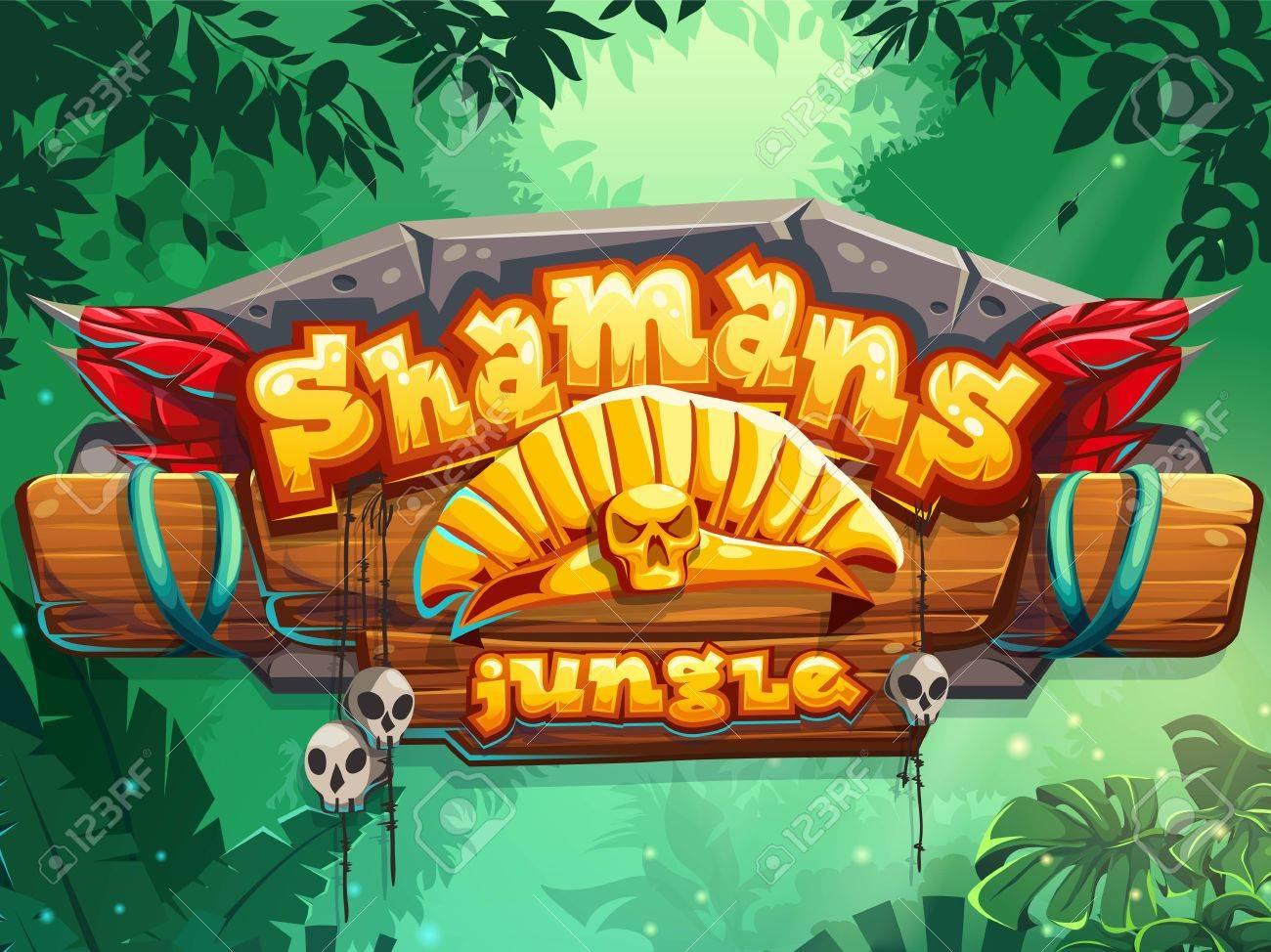 Jungle shamans start page cute illustration - 63580968