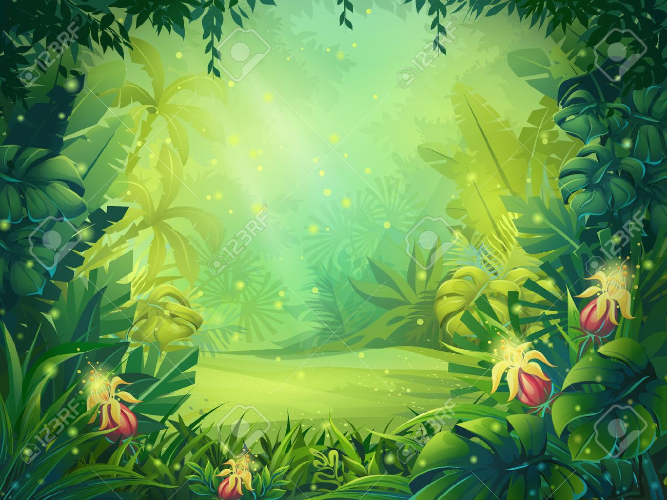 178,466 Jungle Background Stock Vector Illustration And Royalty ...