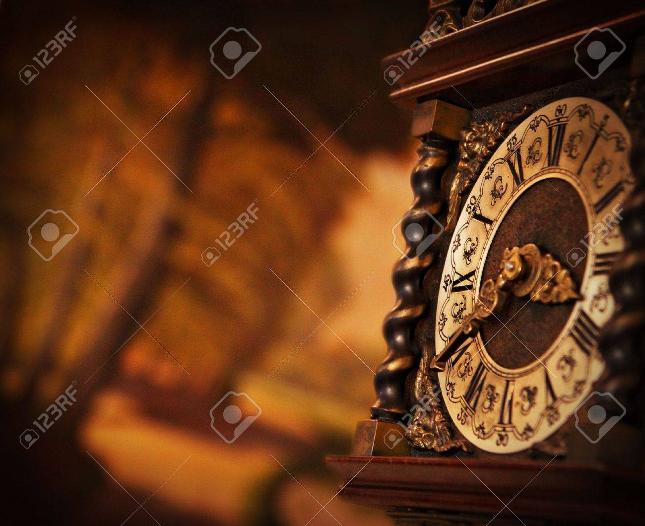 Antique Wall Clock Stock Images, Royalty-Free Images &amp- Vectors ...