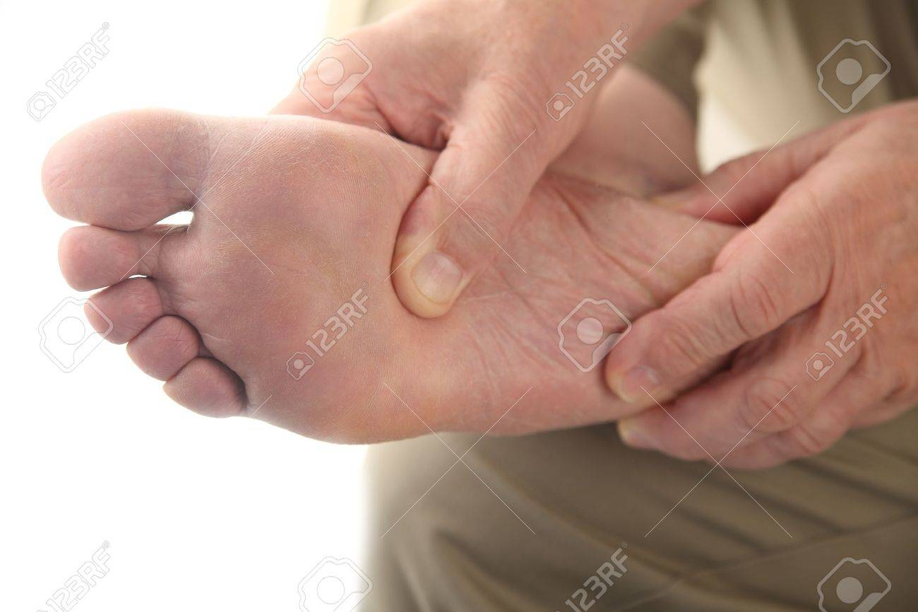 close up of the bottom of a man s foot Stock Photo - 14005505