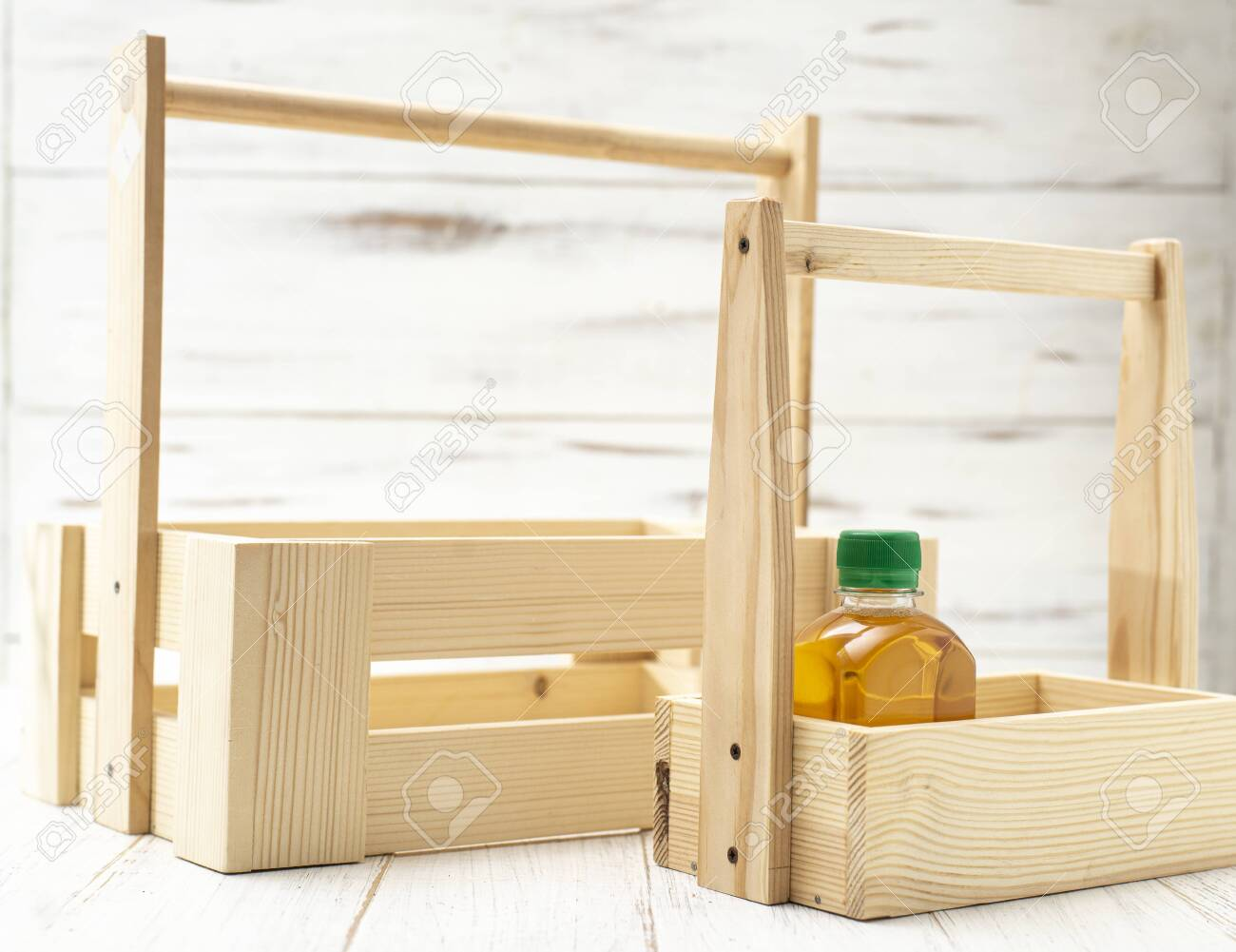 Wooden Boxes With A Jar Of Oil Decorative Boxes Made From Natural Stock Photo Picture And Royalty Free Image Image 153355605
