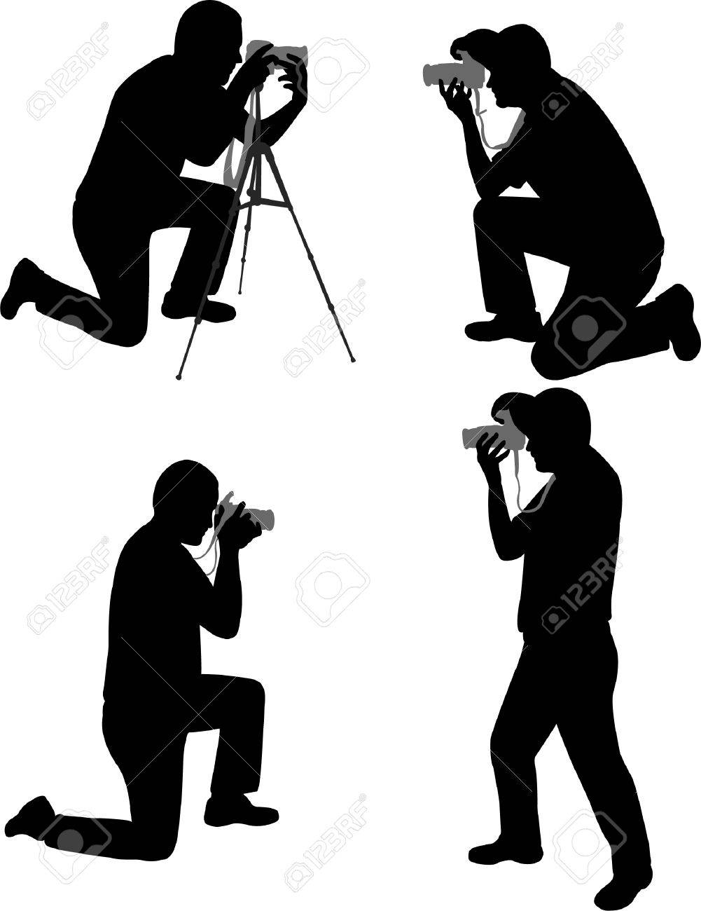 photographers silhouettes - vector Stock Vector - 4943733
