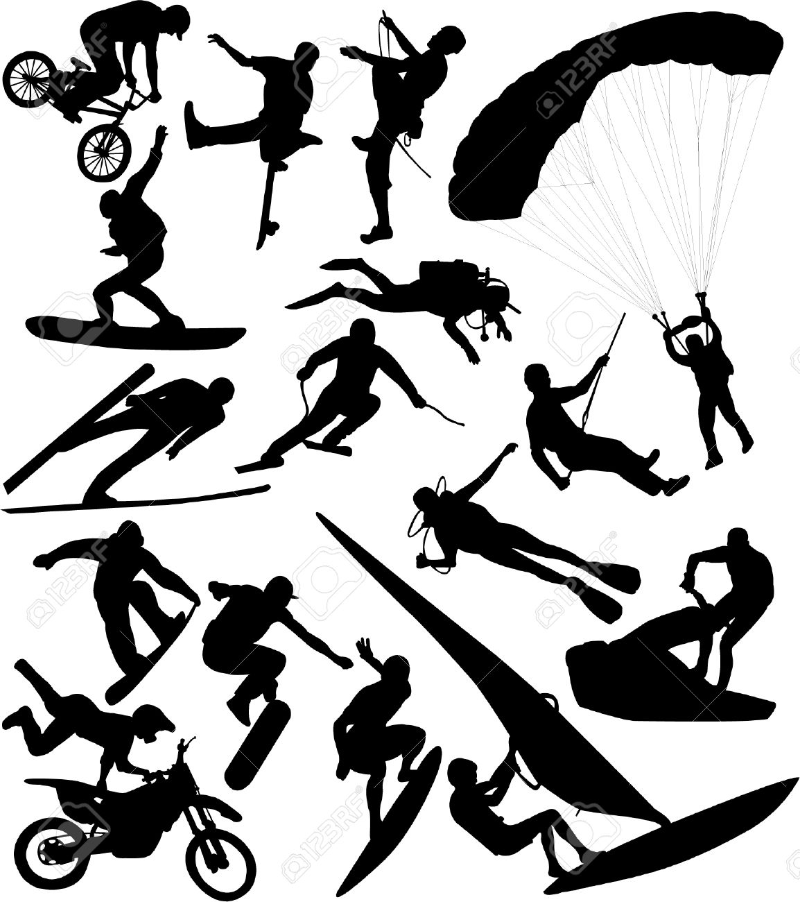 extreme sports - vector Stock Vector - 4977659