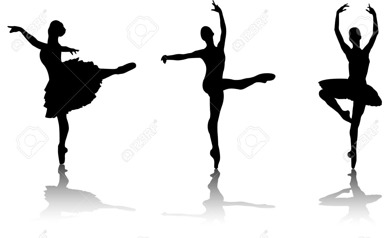 ballet dancers silhouette vector royalty free cliparts vectors rh 123rf com belly dancer silhouette vector free vector dance silhouette