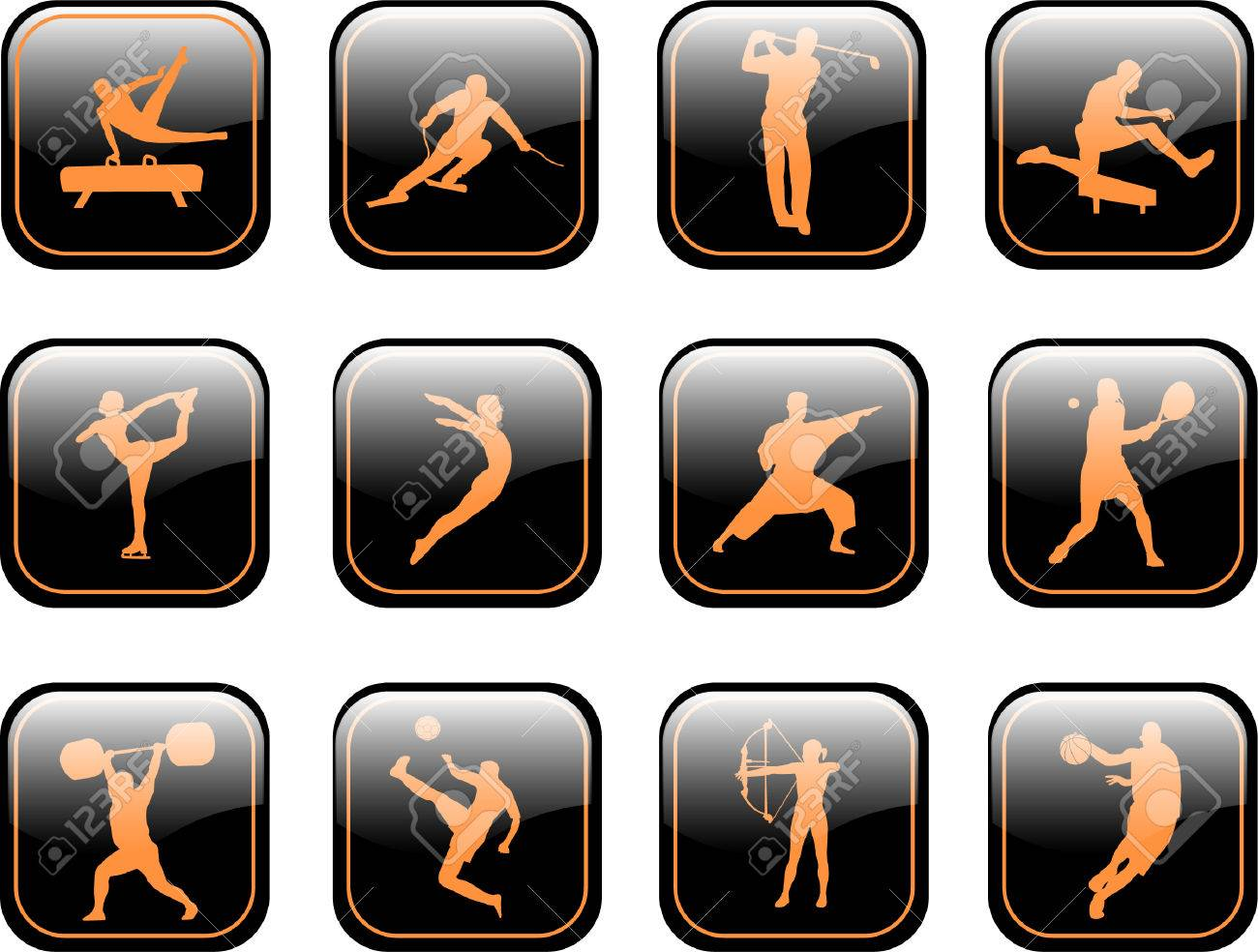 sport icons collection - vector Stock Vector - 5022321