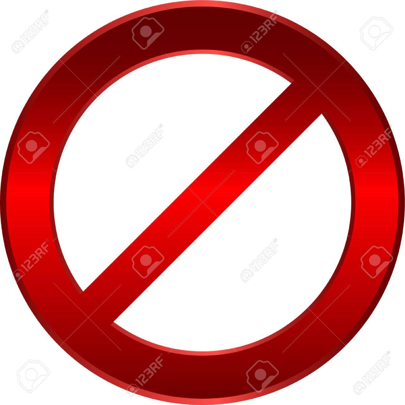 forbidden sign - vector Stock Vector - 5258427