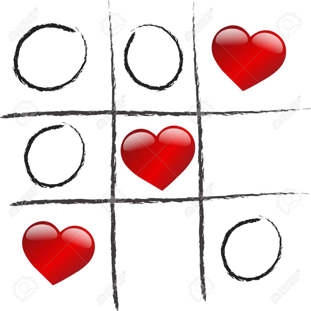 love is winning game Stock Vector - 5881202