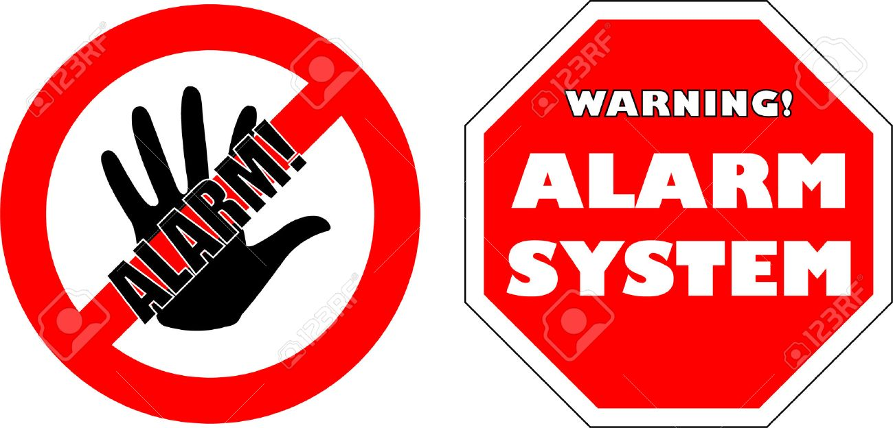 protected by alarm system signs royalty free cliparts vectors