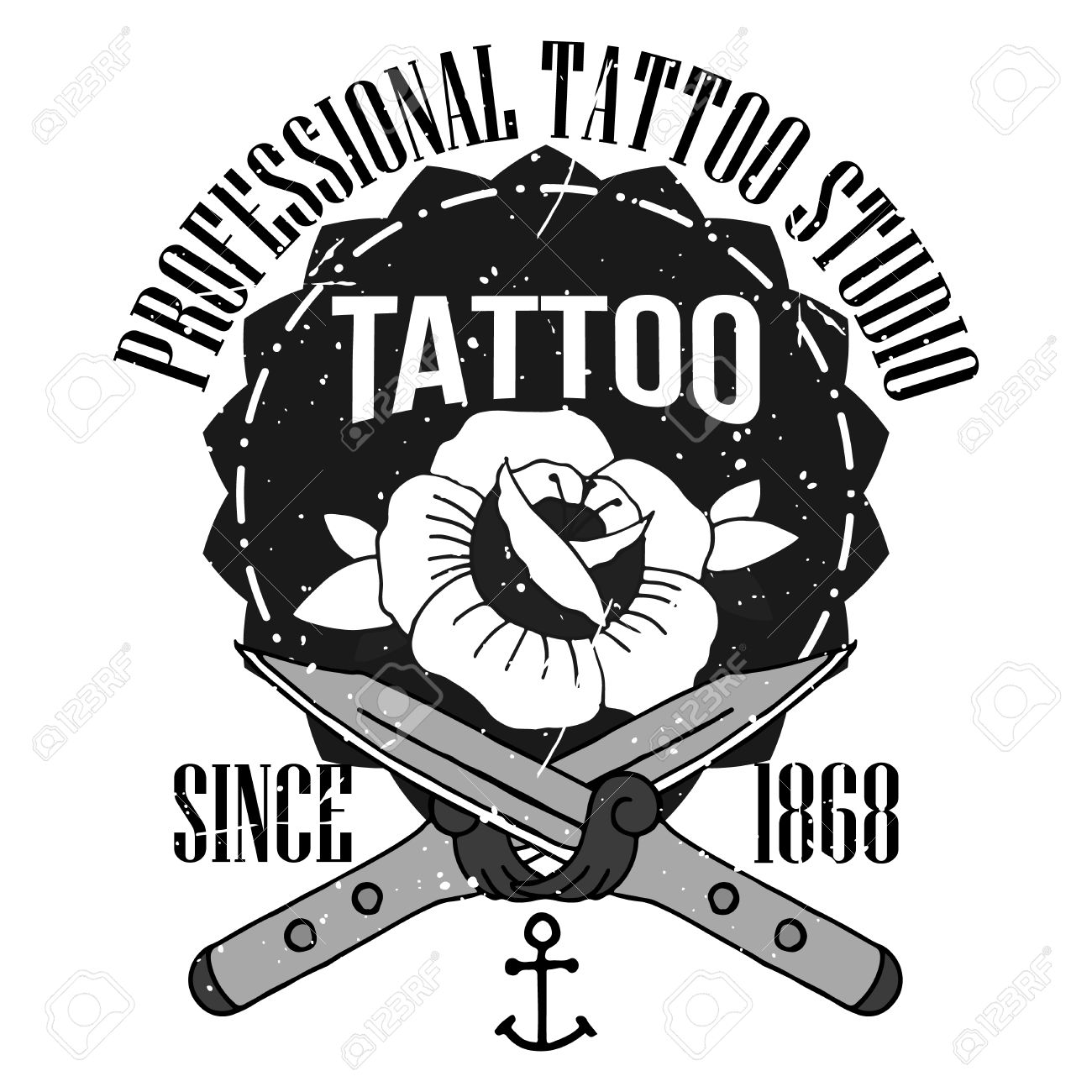 Design t shirt school - Homemade Tattoo T Shirt Design Old School Style Stock Photo 43049150