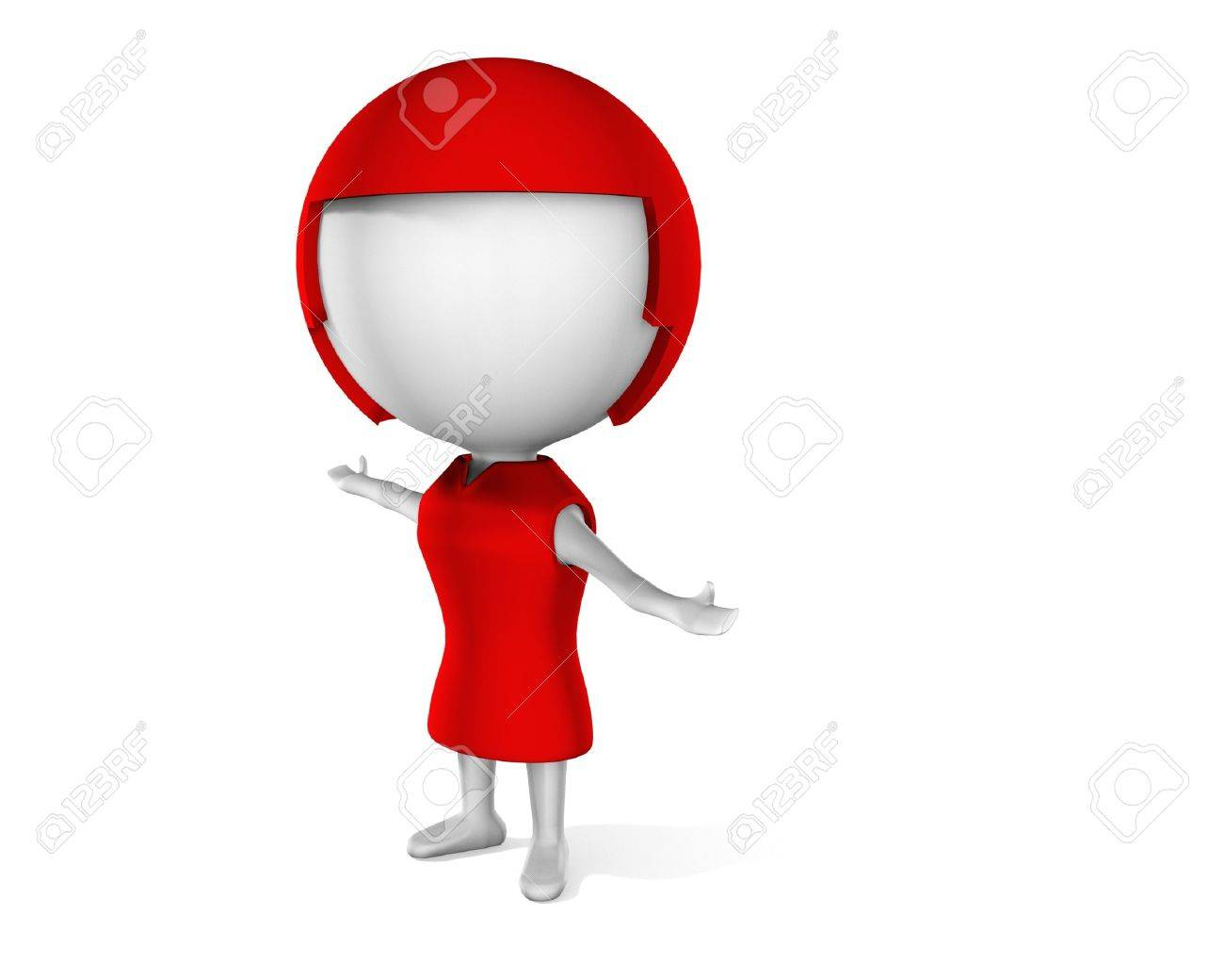 a 3d woman on a white background Stock Photo - 6871493