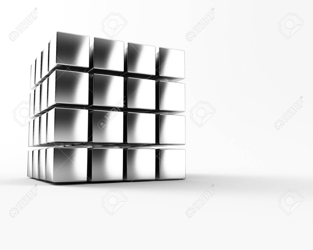 A group of cubes on a white background Stock Photo - 8983990