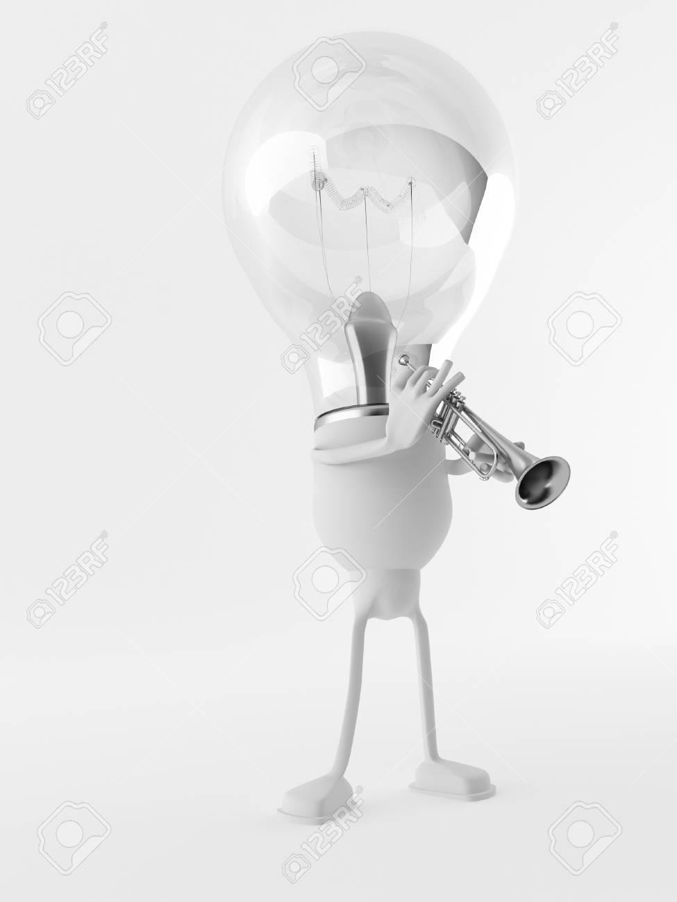 A 3d Bulb Stock Photo - 11995400
